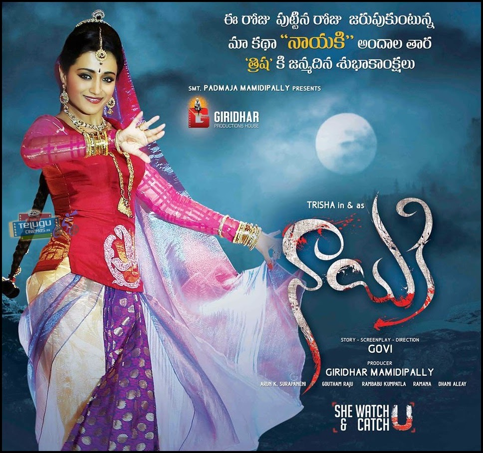 Trisha Krishnan Nayaki movie posters