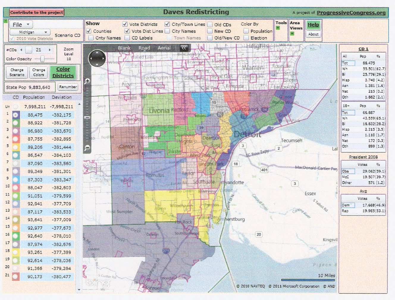 Michigan redistricting alternative house map rrh elections here is my alternative map freerunsca Image collections