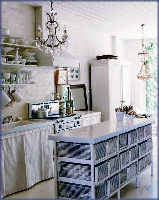 Hogares frescos 27 encantadoras soluciones de - Decoracion vintage cocina ...