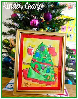 watercolor Christmas tree. GREAT PARENT GIFT!
