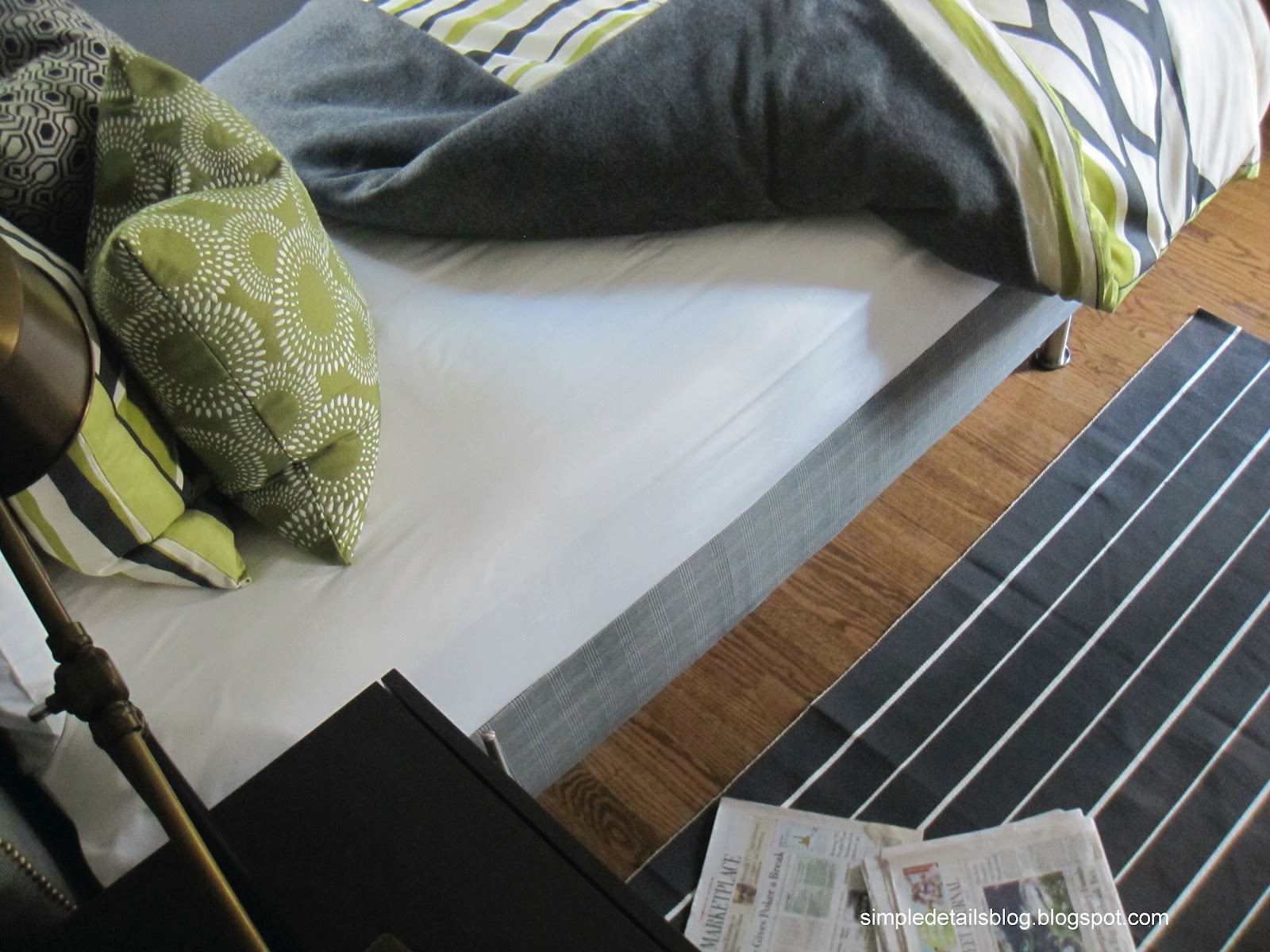 Simple details: diy upholstered box spring