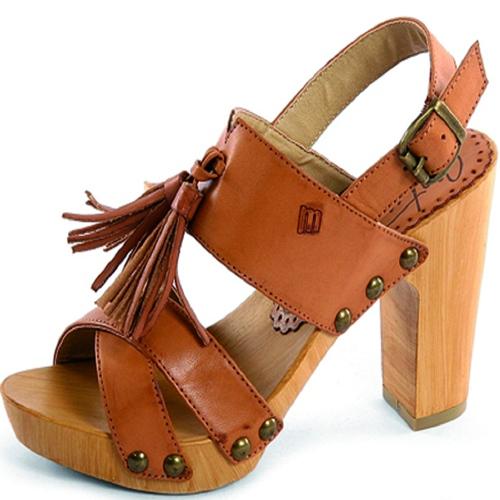 Tacones y moda calzado tacones - Tocones de madera ...