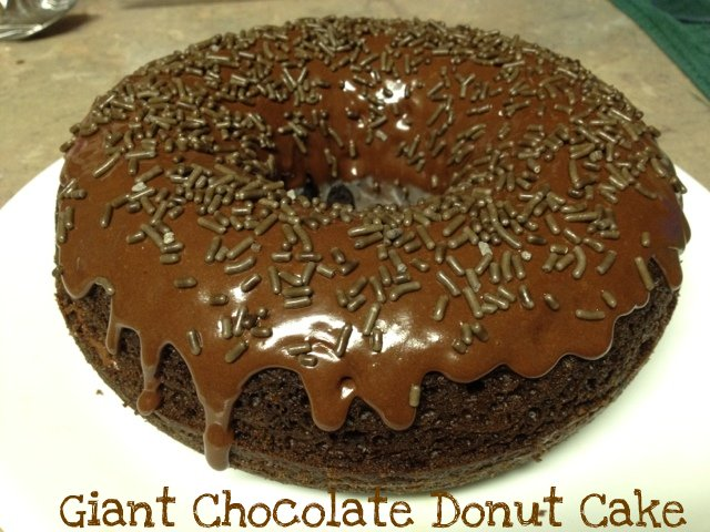 Stuff Amy Made: Giant Chocolate Donut Cake