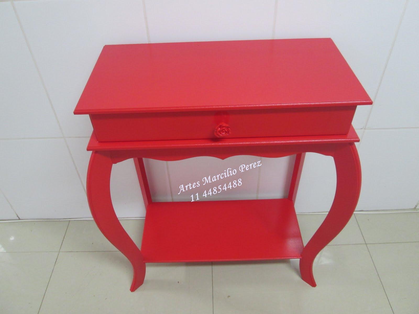 Aparador  vermelho R$ 160,00 medidas