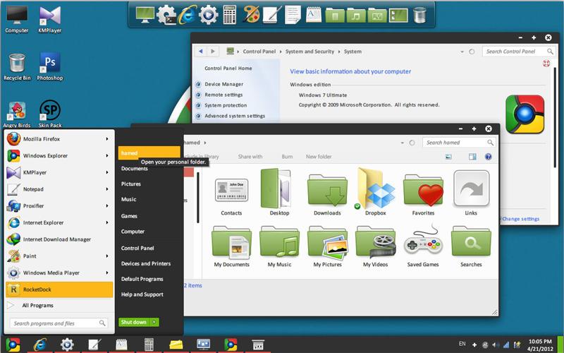 Download Skin Pack Chromium Windows 7