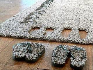 Tapeçaria felpuda quadrada ecológica