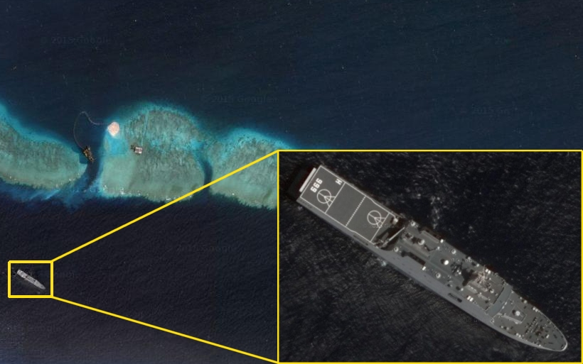 Pacific Sentinel News Story Google Satellite Images Show PLA - Recent satellite pictures
