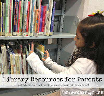 Library Resources for Parents from The Educators' Spin On It
