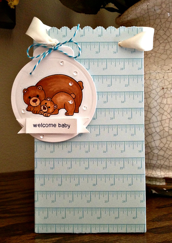 Bear Baby Tag by Jamie Greene for Newton's Nook Designs | Wild Child Stamp Set