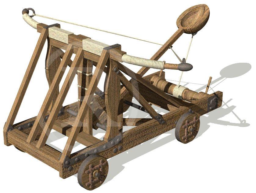 Difendere le macchine d 39 assedio for Catapulta di leonardo da vinci