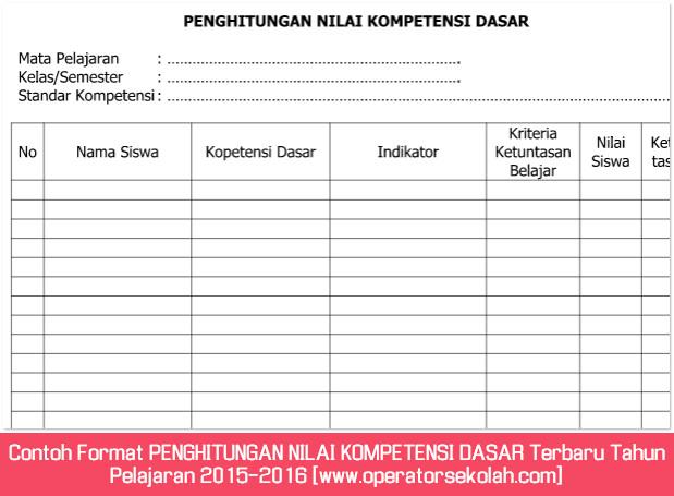 Contoh Format PENGHITUNGAN NILAI KOMPETENSI DASAR Terbaru Tahun Pelajaran 2015-2016 [www.operatorsekolah.com]