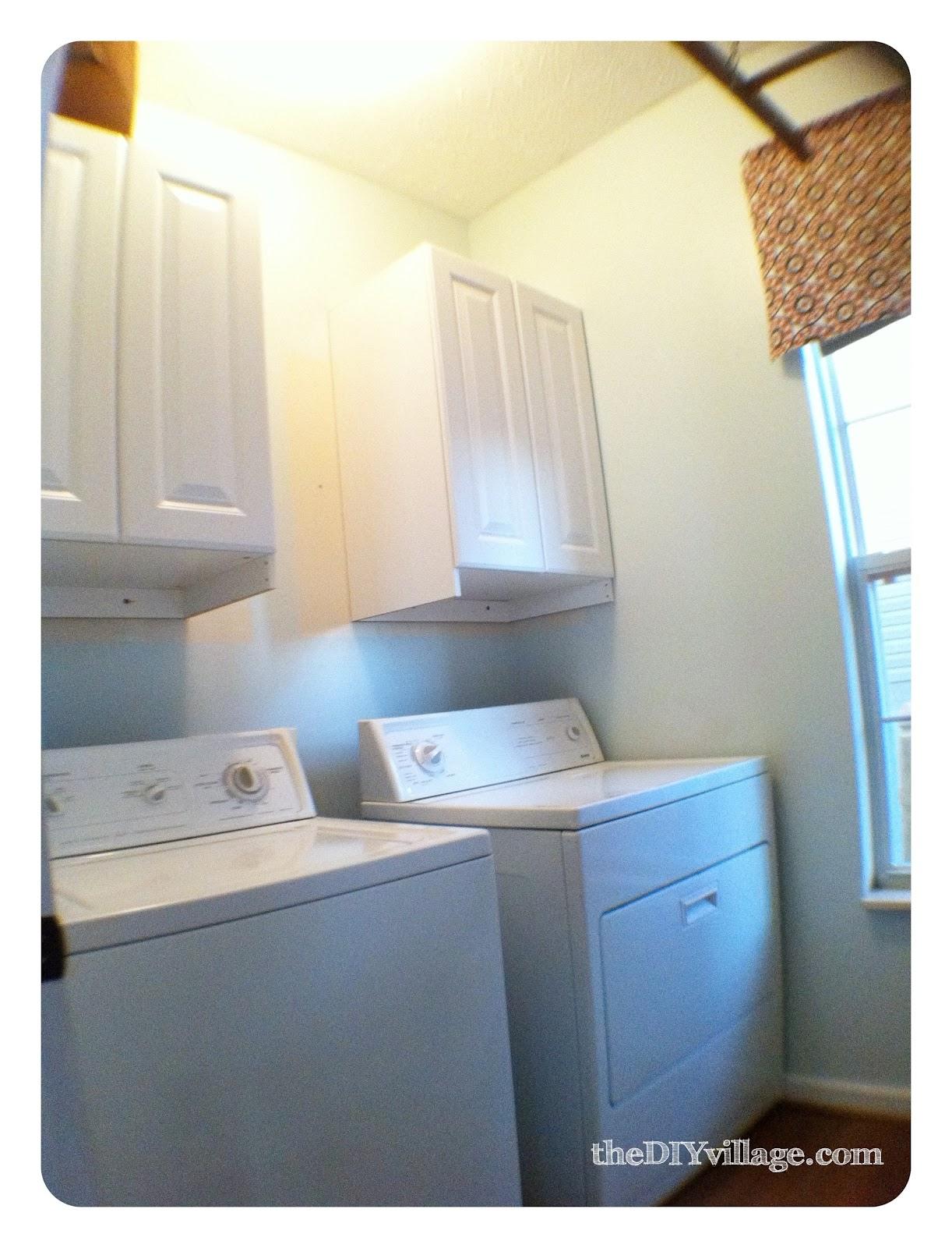 laundry room makeover the diy village. Black Bedroom Furniture Sets. Home Design Ideas