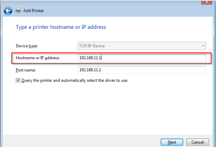 assign ip address to usb printer
