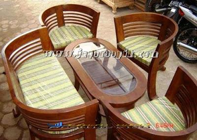 kursi teras atau kursi tamu cantik minimalis jati jepara