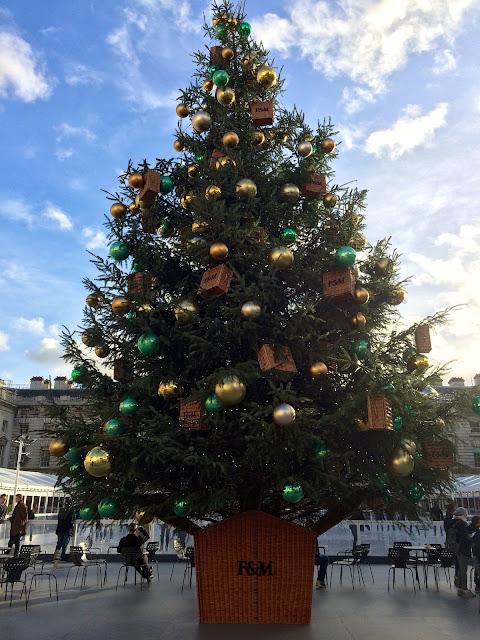 Christmas tree at Somerset House