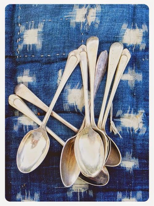 vintage teaspoons via small acorns blog