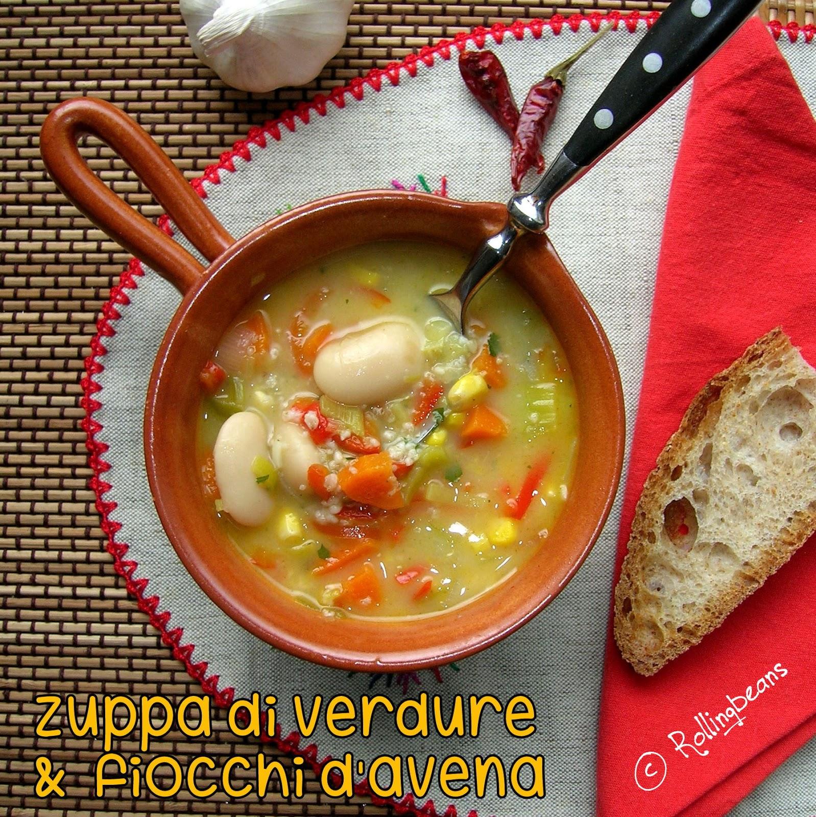 zuppa di verdure e fiocchi d'avena (vegan,gluten free)