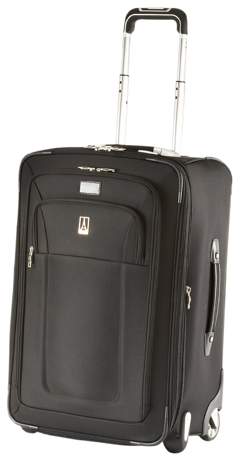 The Travelpro Inflight 2 piece Expandable Spinner Luggage Set includes a 21 inch and 25 inch spinner suitcases. Eight multi-directional Spinner wheels allow degree upright rolling without any weight on your arm and keeps the case close for safety.