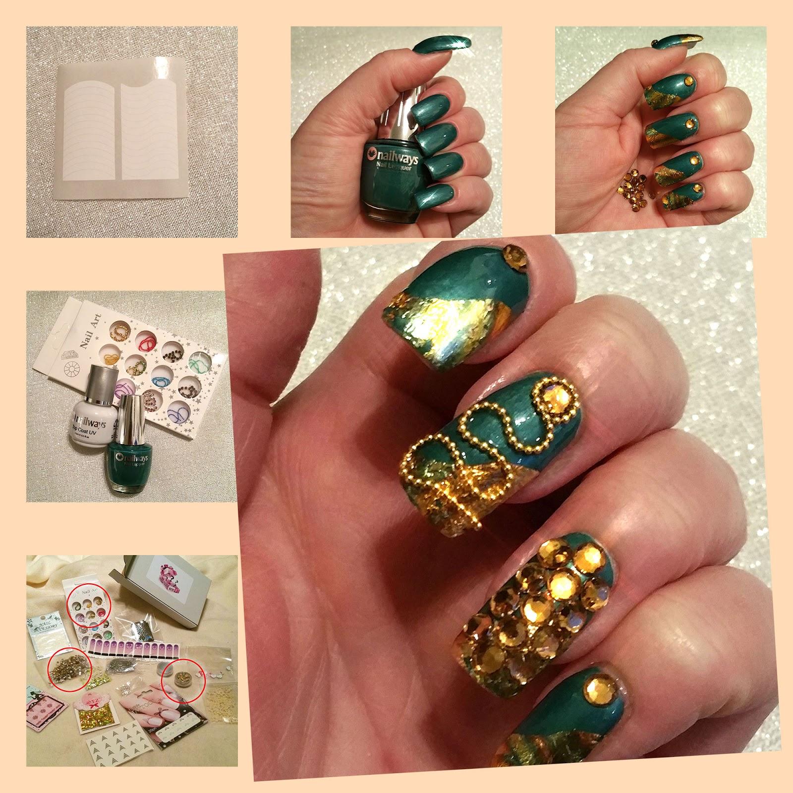 Nailways Mijn Mystery Nail Art Box Nagels Hoe Maak Je Golden Green
