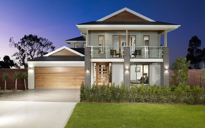 Front Elevation Without Balcony : V s metricon phoenix brooksreach horsley september