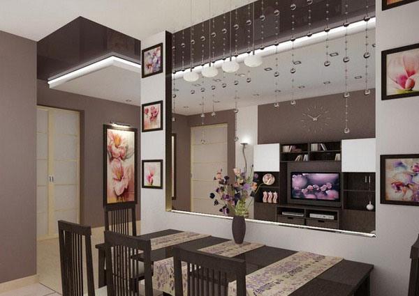 Перегородка кухня гостиная фото