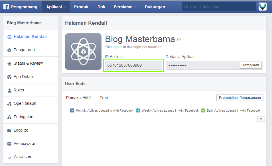Cara Mendapatkan App ID Di Facebook