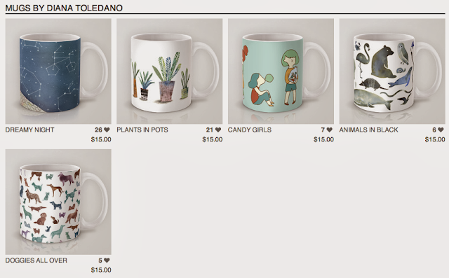 Diana Toledano's Illustration Shop: mugs