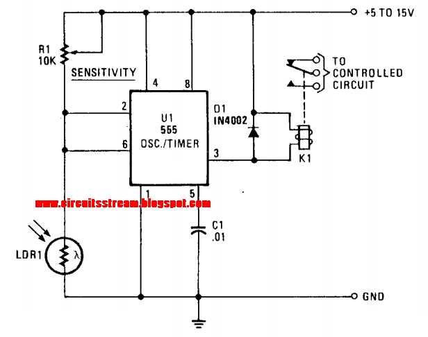 Simple Photo Alarm Circuit Diagram on security alarm circuit