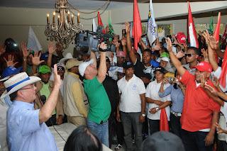 Hipólito  Mejía  recibe  apoyo  de familiares  de Danilo Medina  e importantes  dirigentes  Reformistas de San Juan de la Maguana.