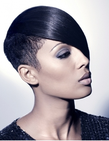 MEDIUM LENGTH HAIRCUT: Short black hairstyles