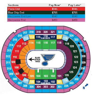 st. louis blues arena layout