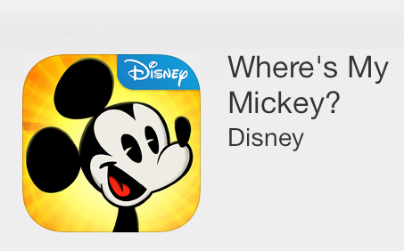 Where's my Mickey? App Store Apple iPad iPhone