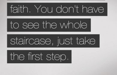 take your first step with faith