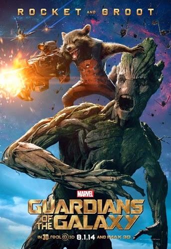 Guardians of the Galaxy Bradley Cooper - Rocket Racoon dan Vin Diesel - Groot