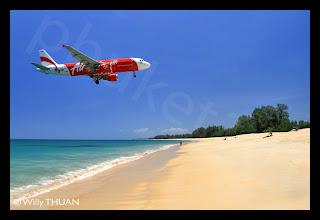 Air Asia Landing in Phuket