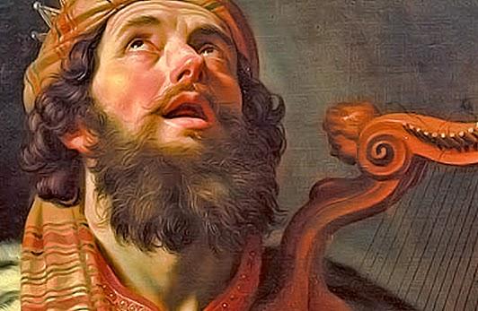 """King David Playing Harp"""" by Von Honthors (detail)"""