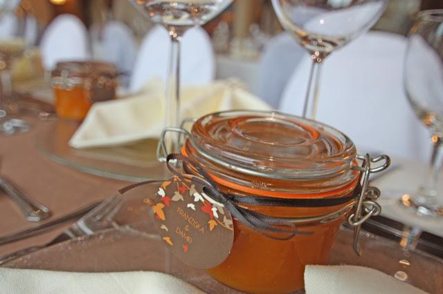 Kürbismarmelade als Gastgeschenk zur Hochzeit - Wedding favor pumpkin jam