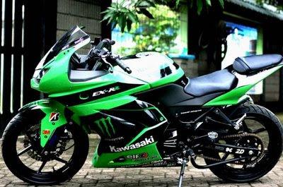 modifikasi motor ninja 250 cc 1 terpopuler