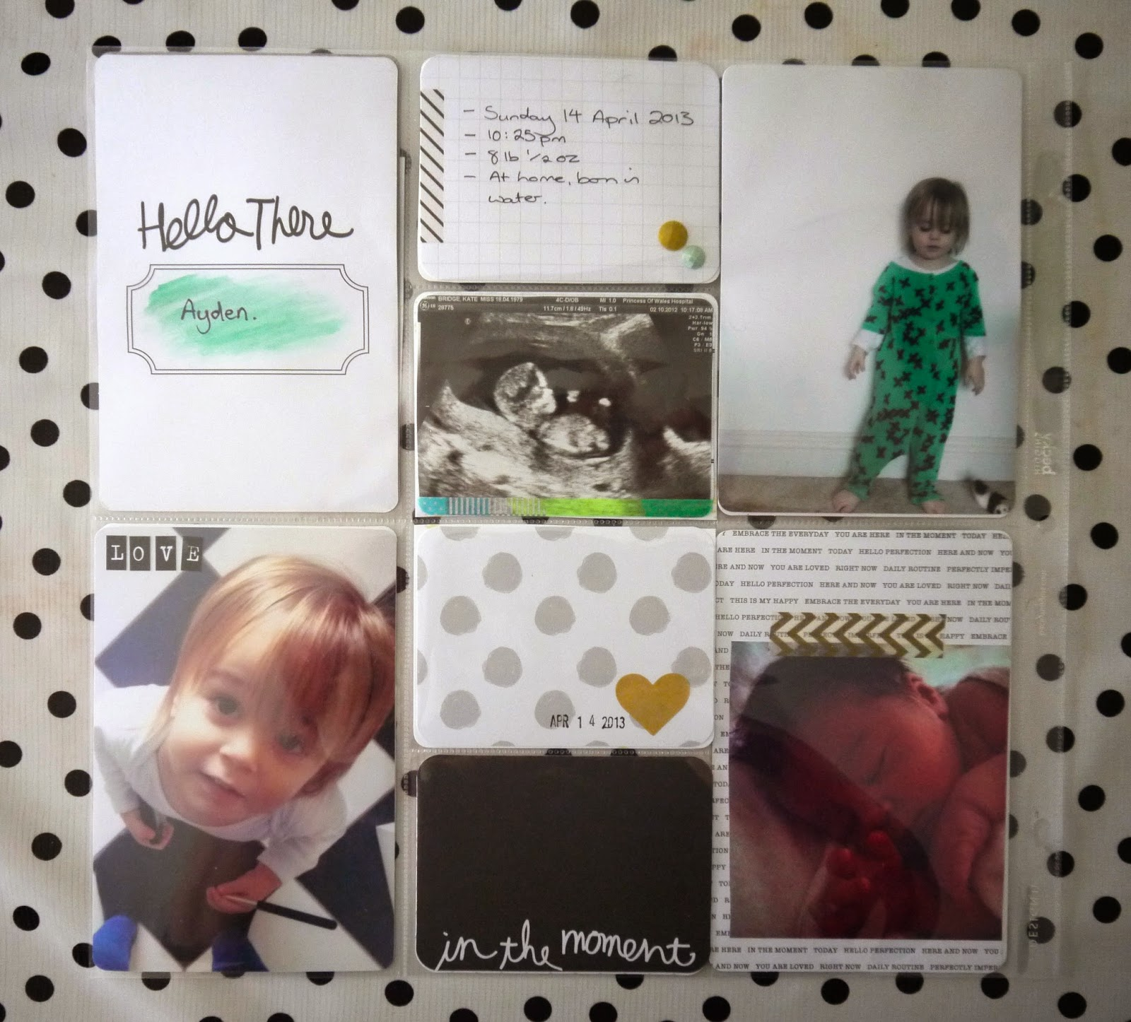 My Project Life scrapbook pages