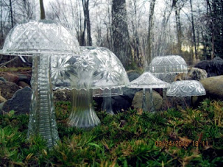 And These Enchanting Mushrooms Are Made From Thrift Store Finds Of Glass  Vases And Bowls.