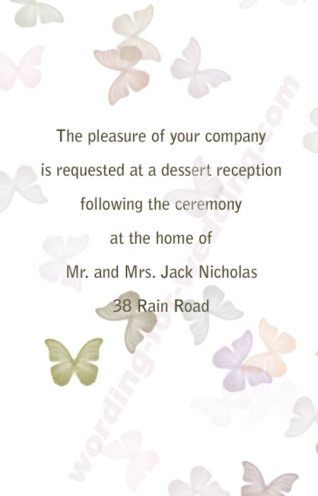 Wording For Wedding Reception Invitations Only