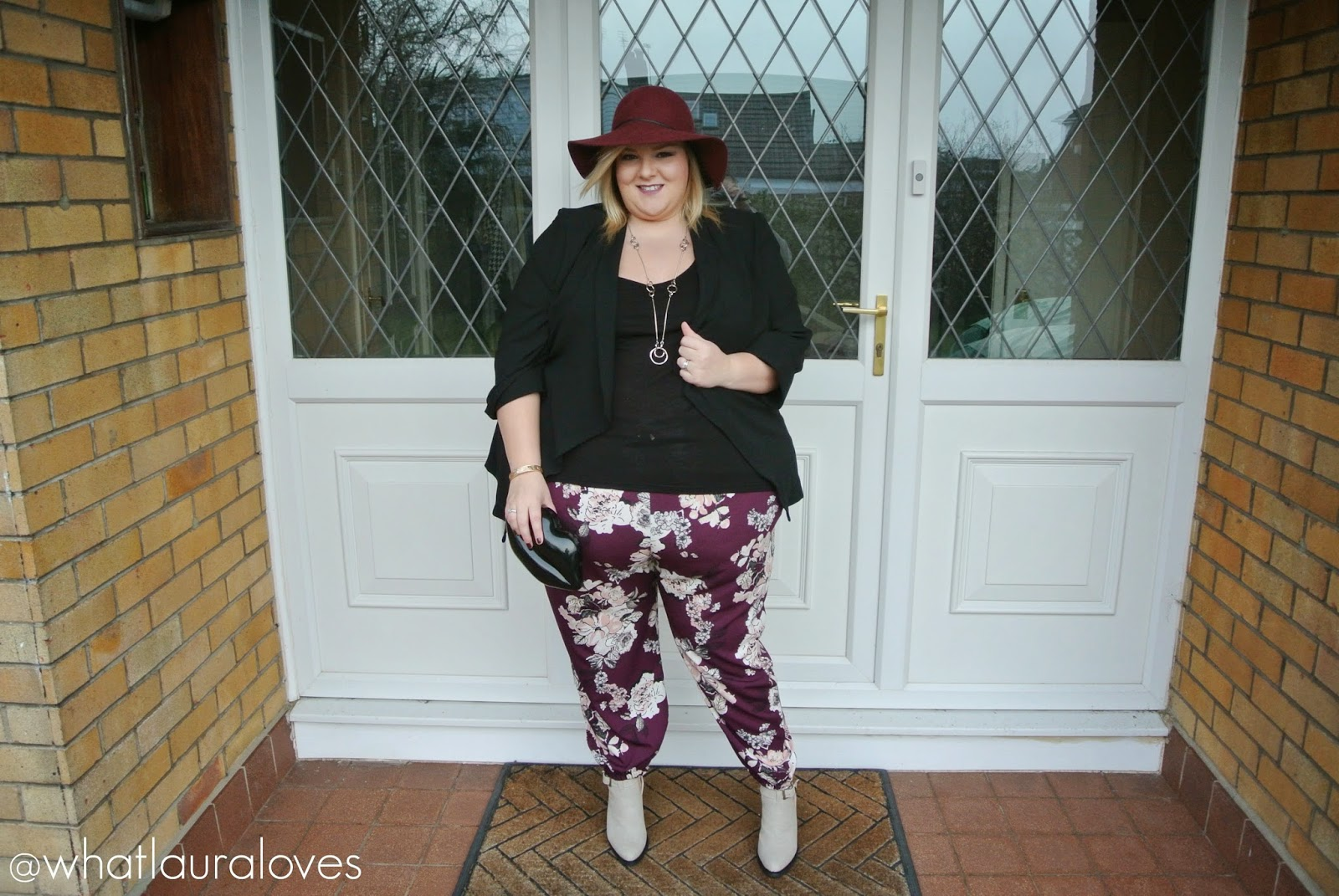 Plus Size Printed Trousers from Yours Clothing