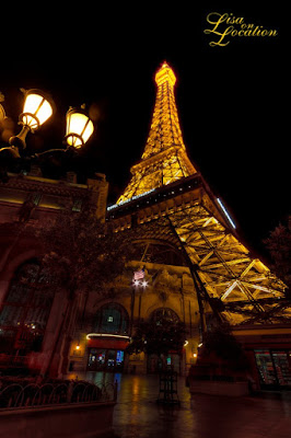 Las Vegas Nevada, Paris Casino, Eiffel Tower at night, New Braunfels photographer