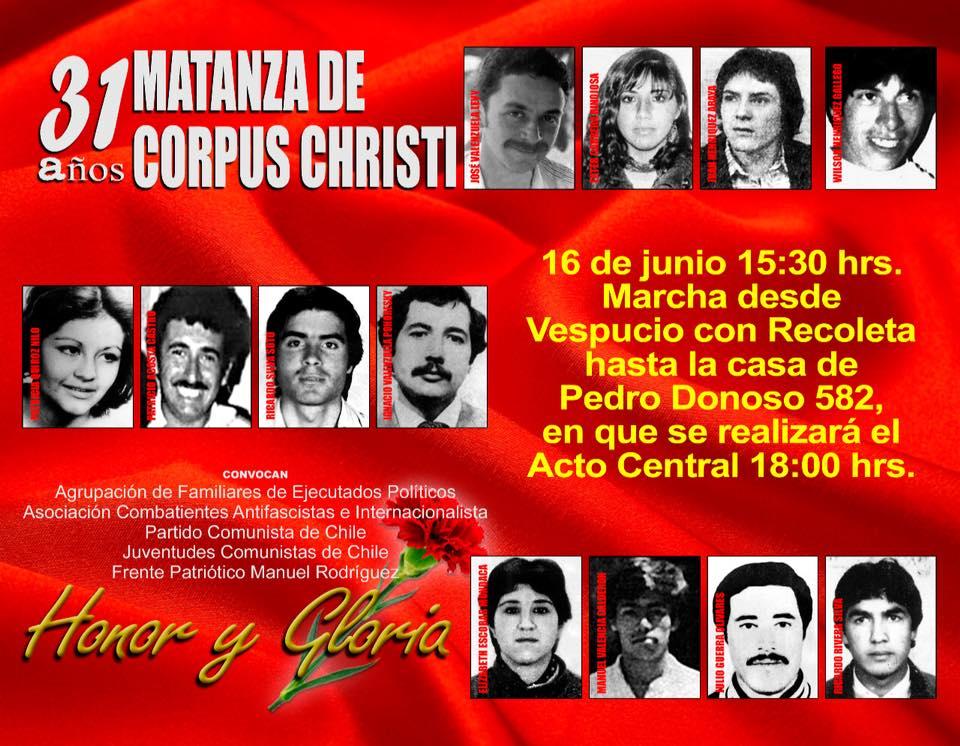 31 AÑOS MATANZA DE CORPUS CHRISTI