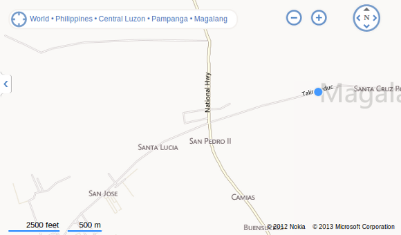 Bing Maps - Magalang