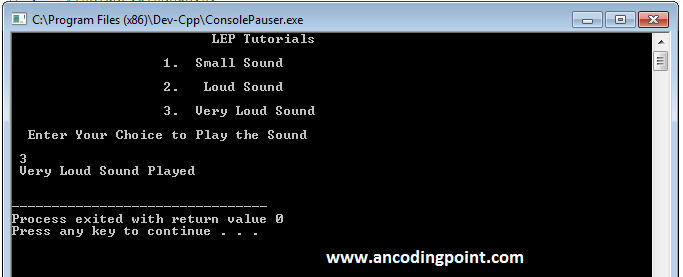 Sound in C++