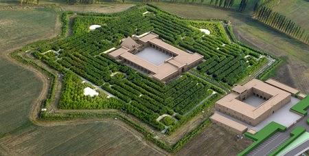 Laberinto de bambú por Franco Maria Ricci en Fontanellato, Parma
