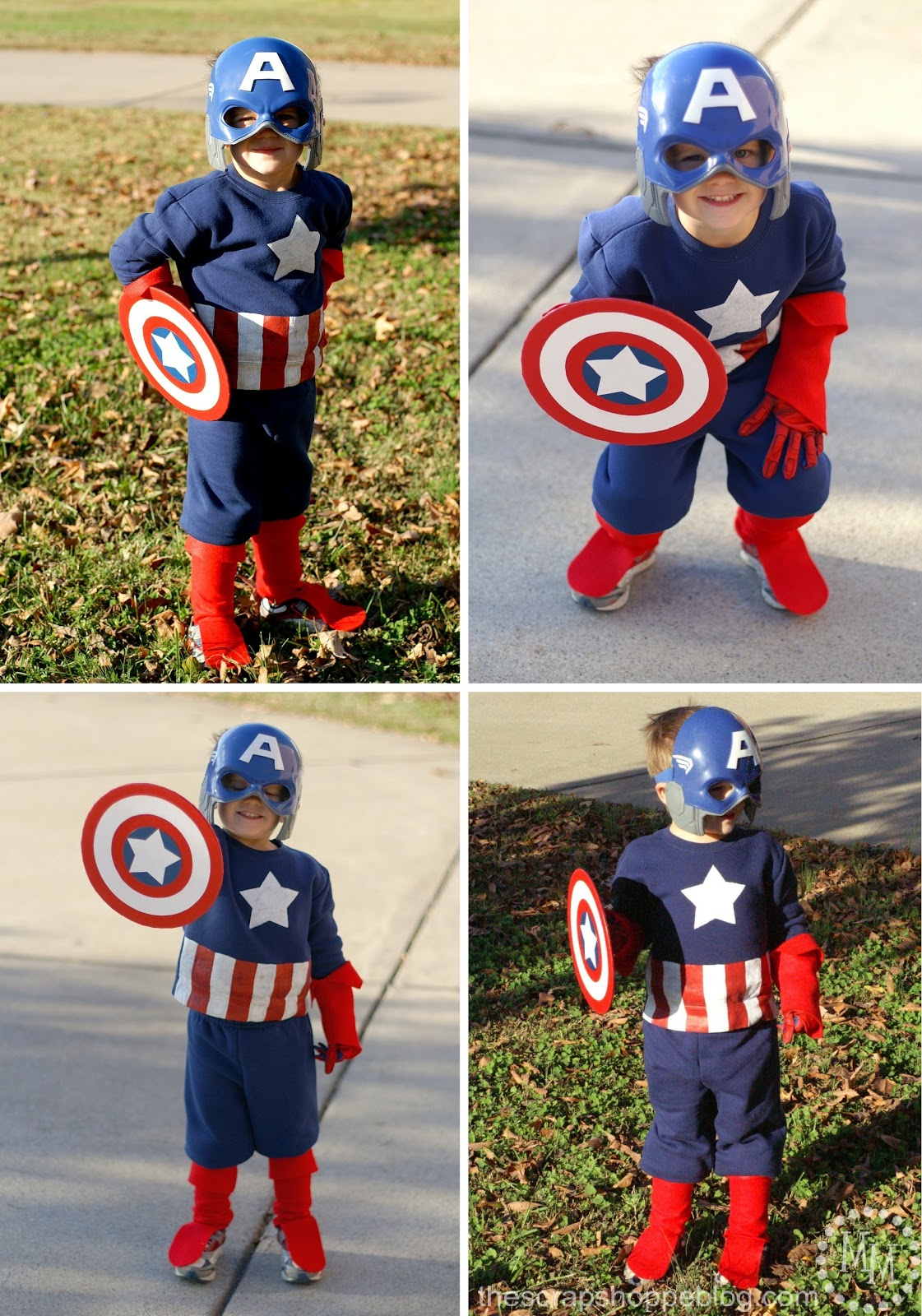 Diy captain america thor costumes the scrap shoppe i think its pretty safe to say that captain america is quite pleased with his costume solutioingenieria Choice Image