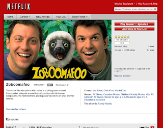 Zoboomafoo on Netflix.