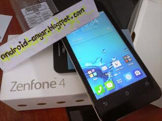 FOTO unbox zenfone 4 layar 4 inci bersih